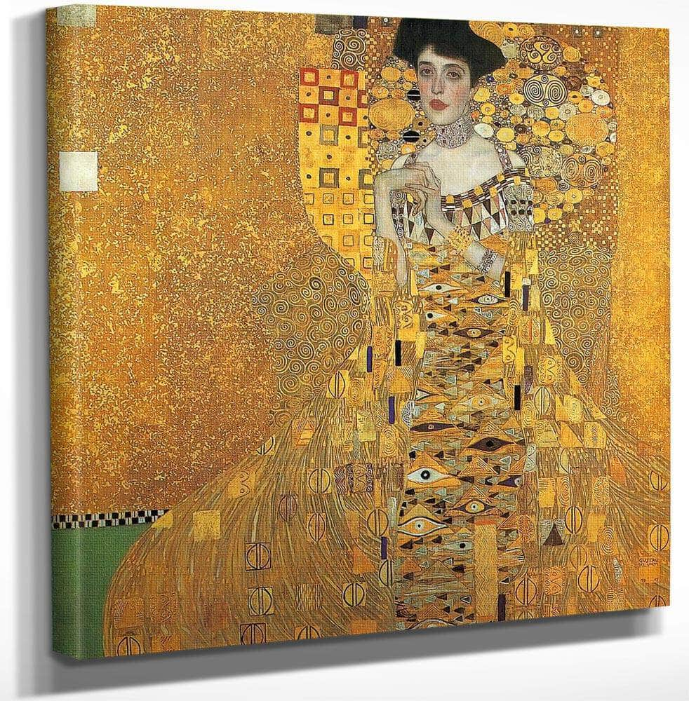 Portrait Of Adele Bloch Bauer I By Gustav Klimt