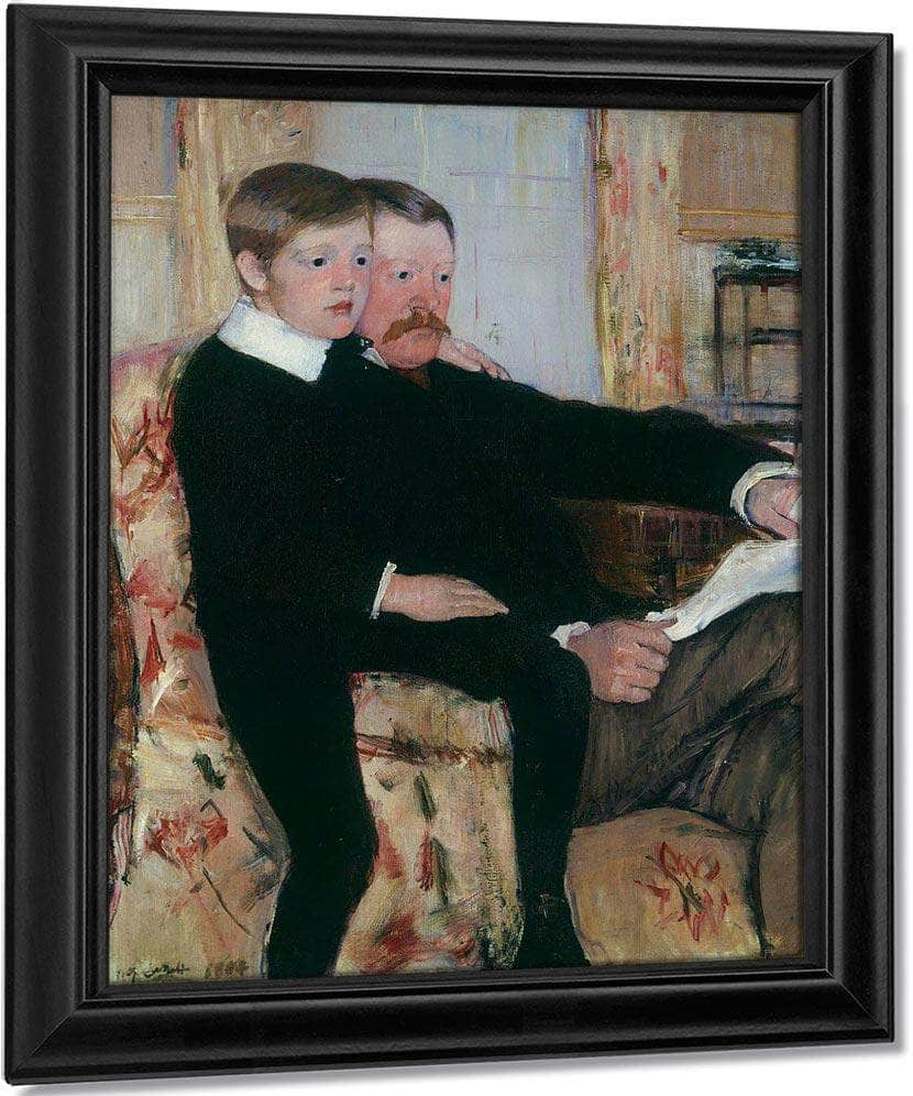 Portrait Of Alexander J. Cassatt And Son Robert Kelso Cassatt By Cassatt Mary