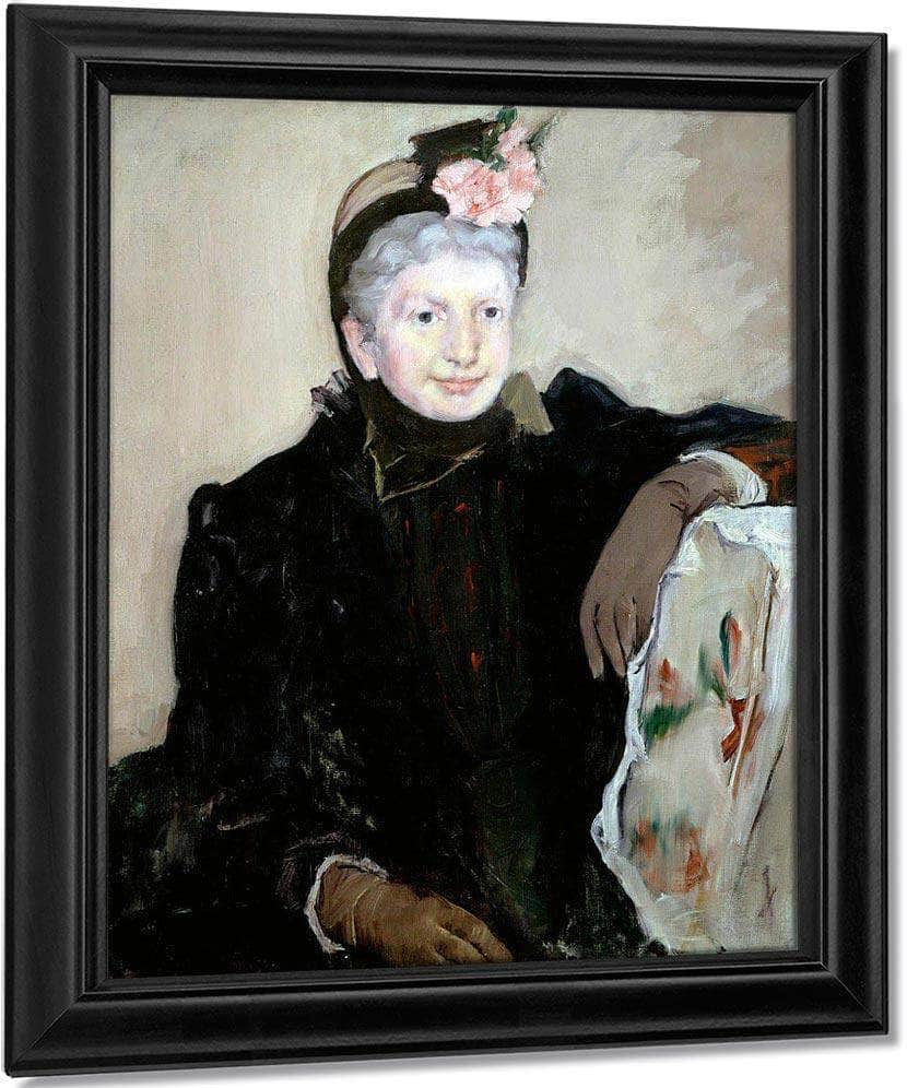 Portrait Of An Elderly Lady By Cassatt Mary