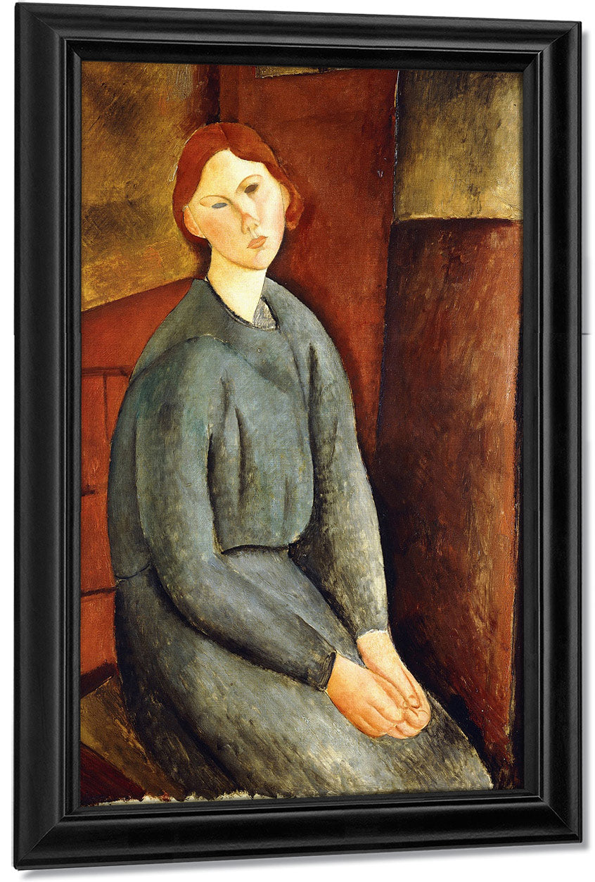Portrait Of Annie Bjarne By Amedeo Modigliani