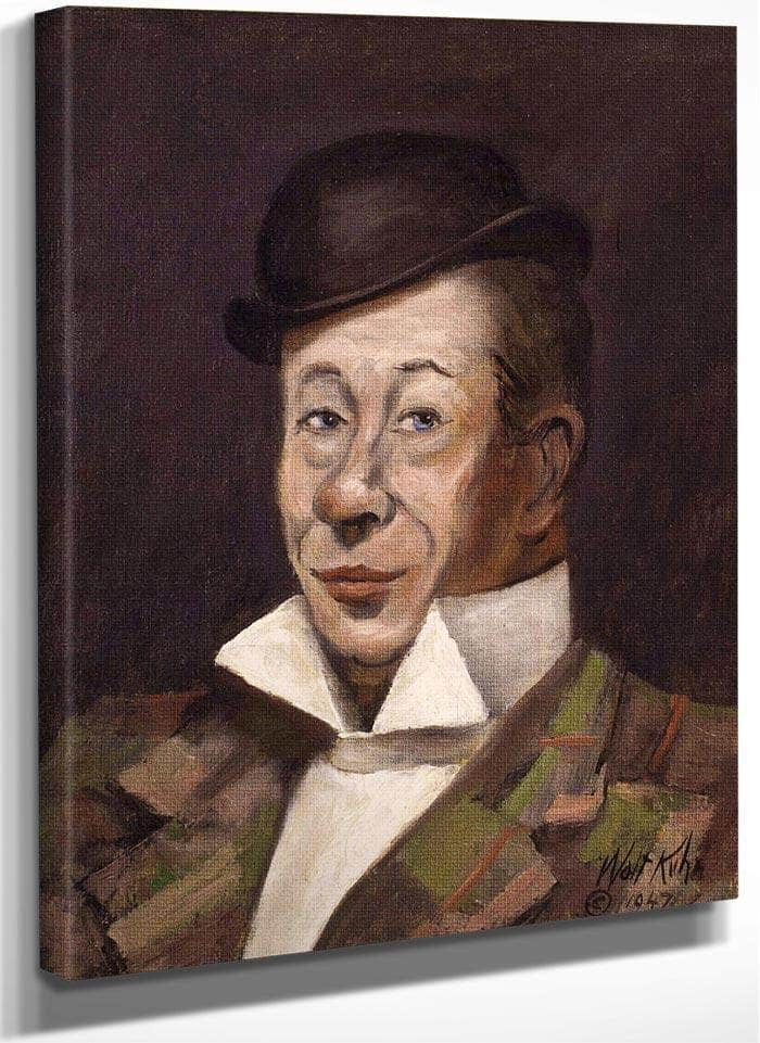 Portrait Of Bert Lahr By Walt Kuhn