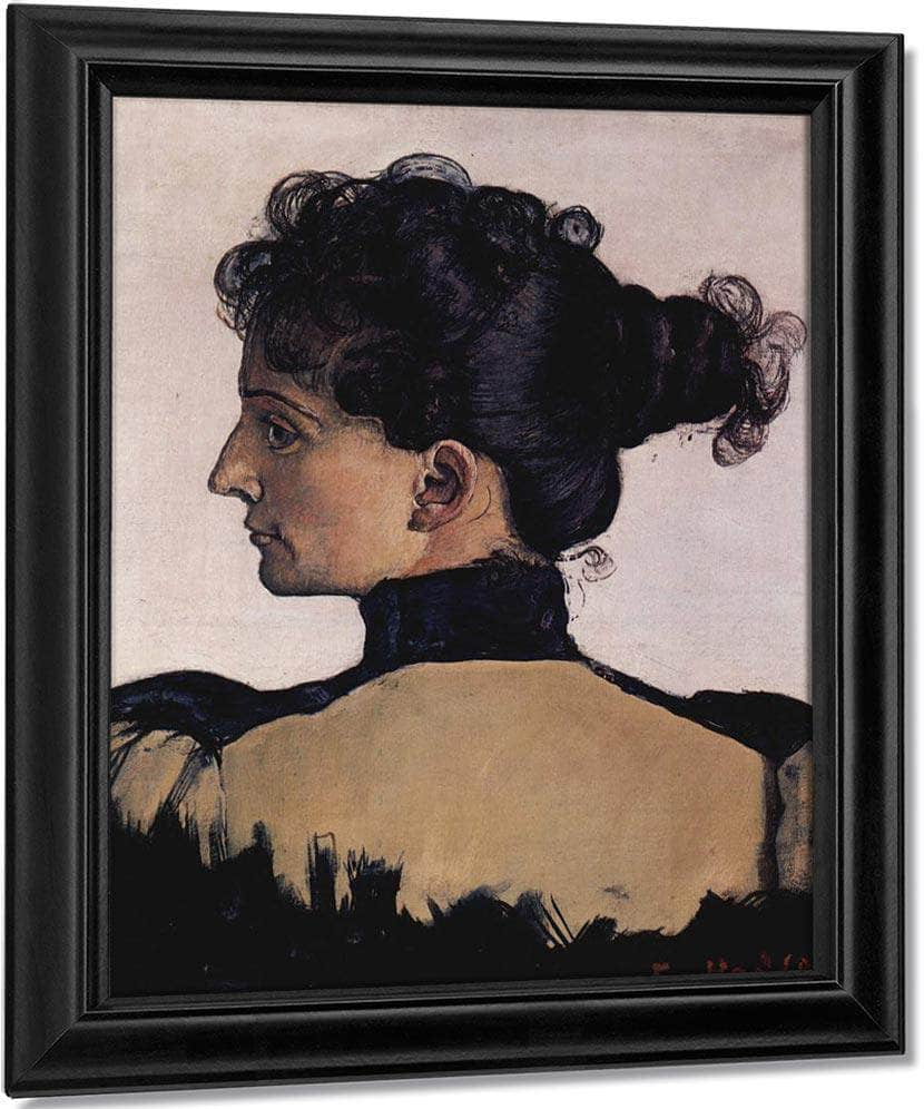 Portrait Of Berthe Jacques Wife Of The Artist 1894 Oil On Canvas 33 5X28Cm By Ferdinand Hodler