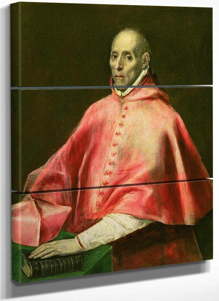 Portrait Of Cardinal Juan De Tavera (Oil On Canvas) By El Greco