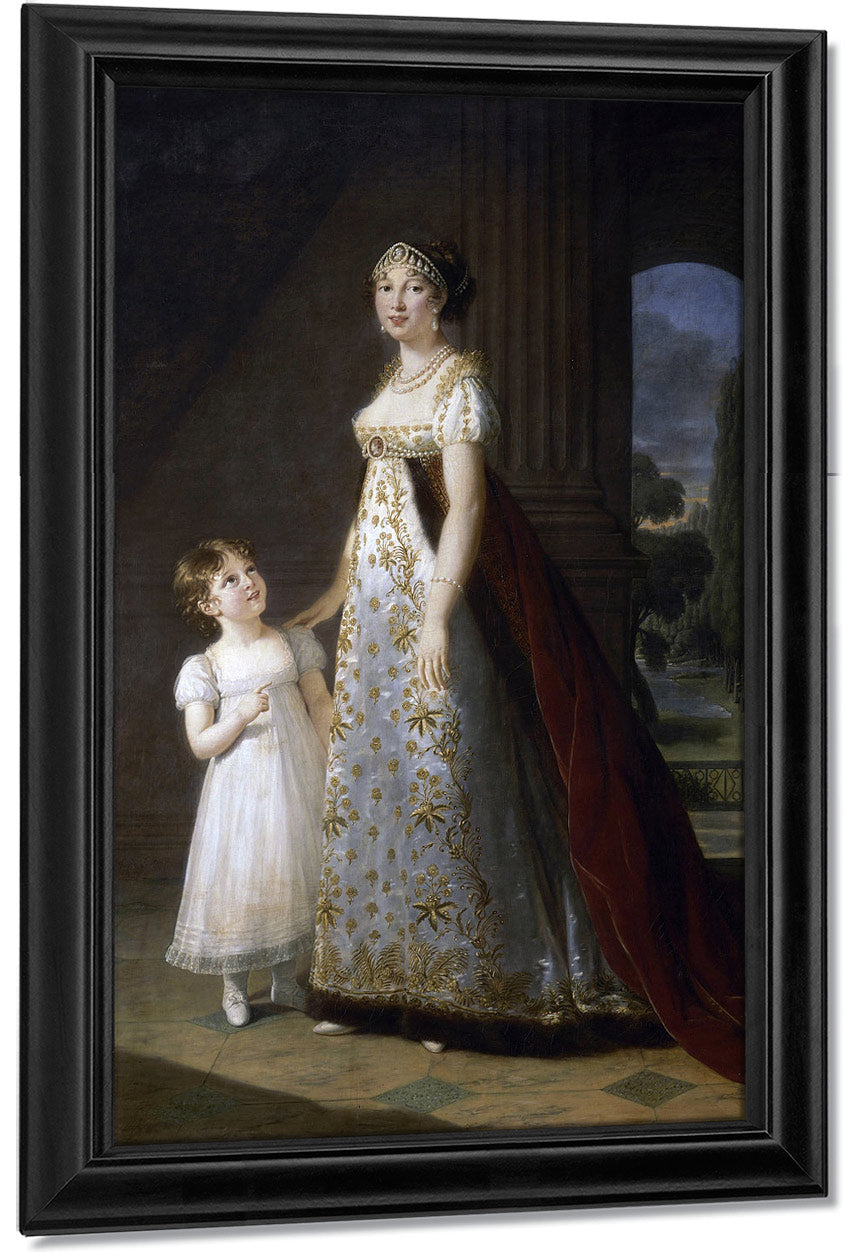 Portrait Of Caroline Murat With Her Daughter Letizia 1807 By Elisabeth Vigee Le Brun