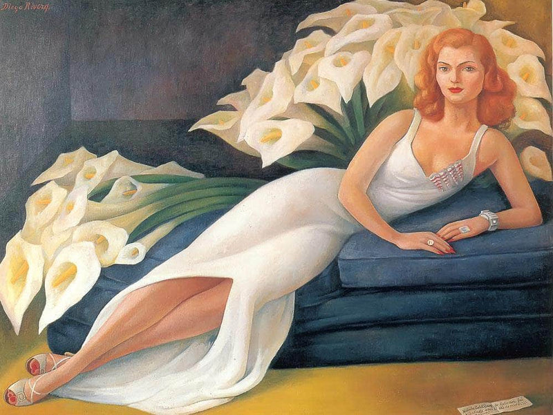 Portrait Of Cuca Bustamante By Diego Rivera