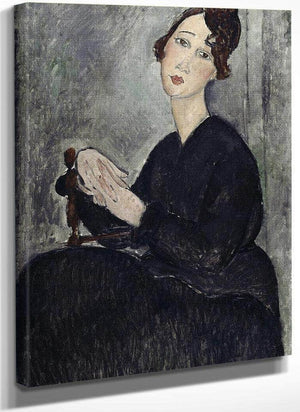 Portrait Of Dedie (Odette Hayden) By Amedeo Modigliani