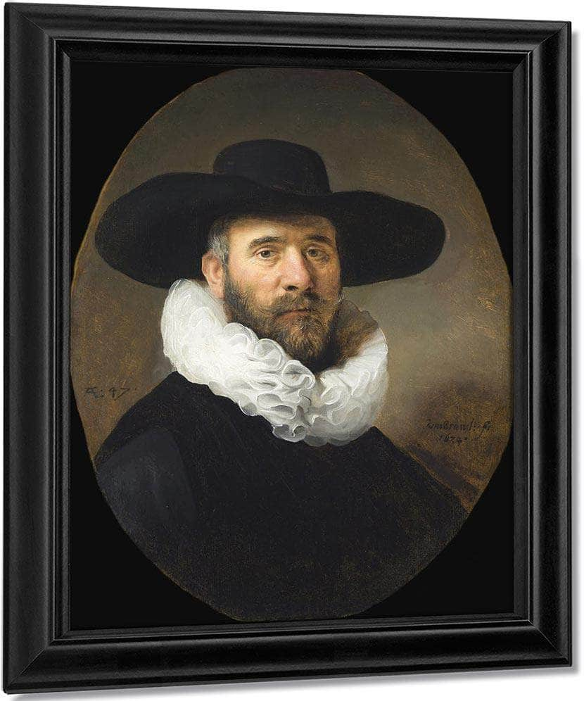 Portrait Of Dirck Jansz Pesser By Rembrandt