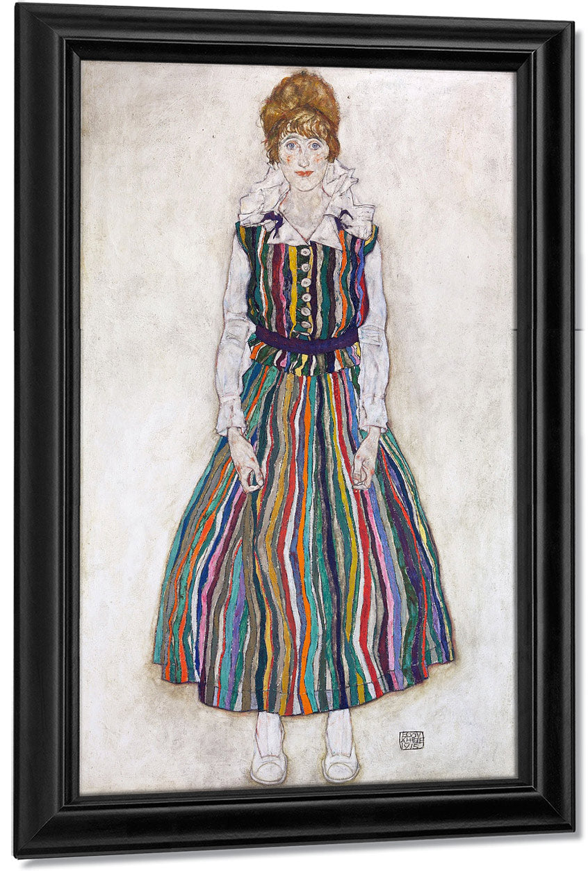 Portrait Of Edith (The Artist's Wife) By Egon Schiele