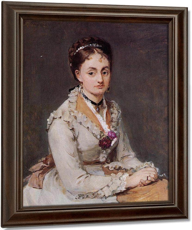 Portrait Of Edma Pontillon 1872 1875 4610X5600Mm Oil On Canvas   The Courtauld Gallery London By Berthe Morisot