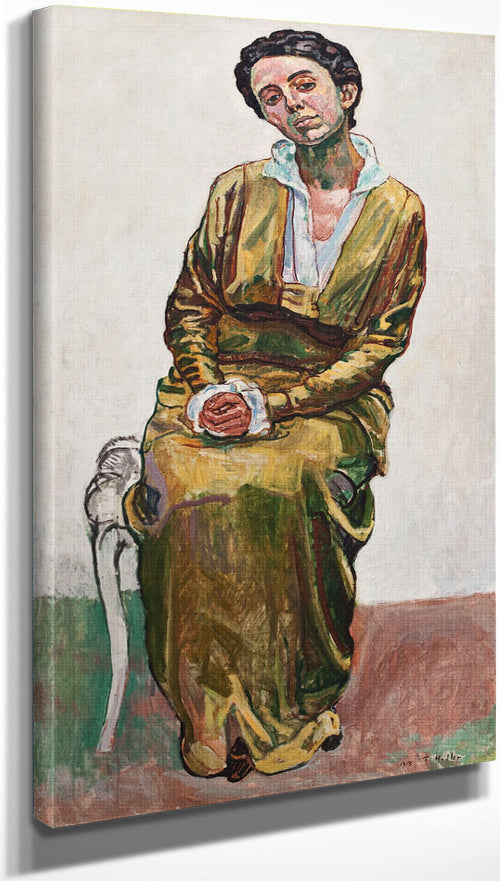 Portrait Of Emma 1915 Art Nouveau By Ferdinand Hodler