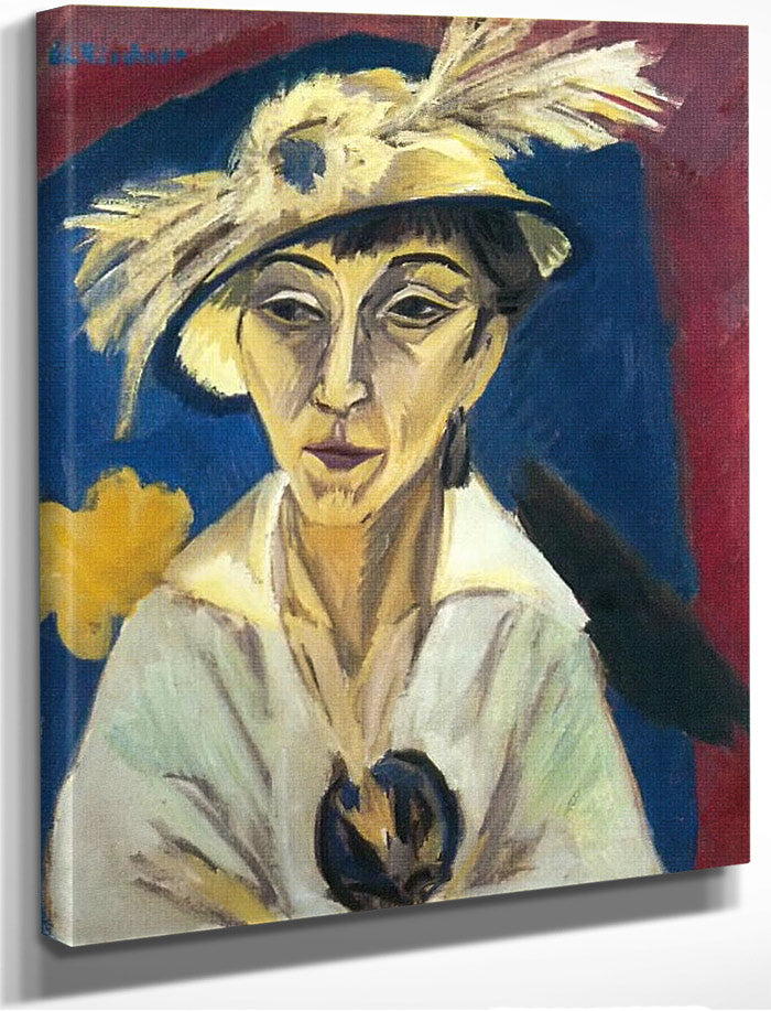 Portrait Of Erna Schilling (Lady With Hat Sick Woman) By Ernst Ludwig Kirchner