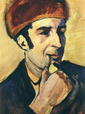 Portrait Of Franz Marc By August Macke