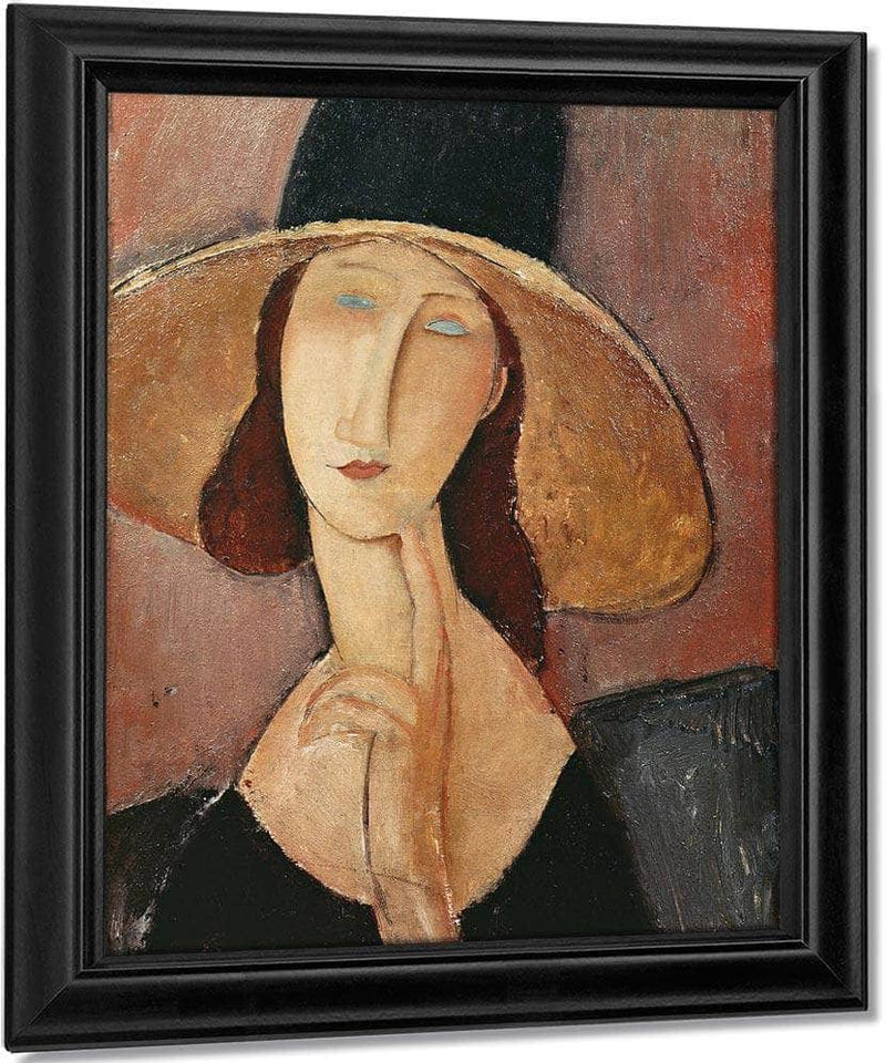 Portrait Of Jeanne Hebuterne In A Large Hat By Amedeo Modigliani