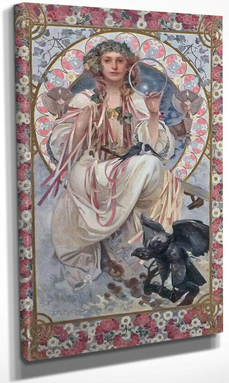 Portrait Of Josephine Crane Bradley As Slavia By Alphonse Mucha