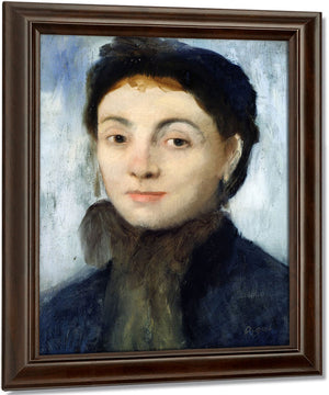 Portrait Of Josephine Gaujelin By Edgar Degas