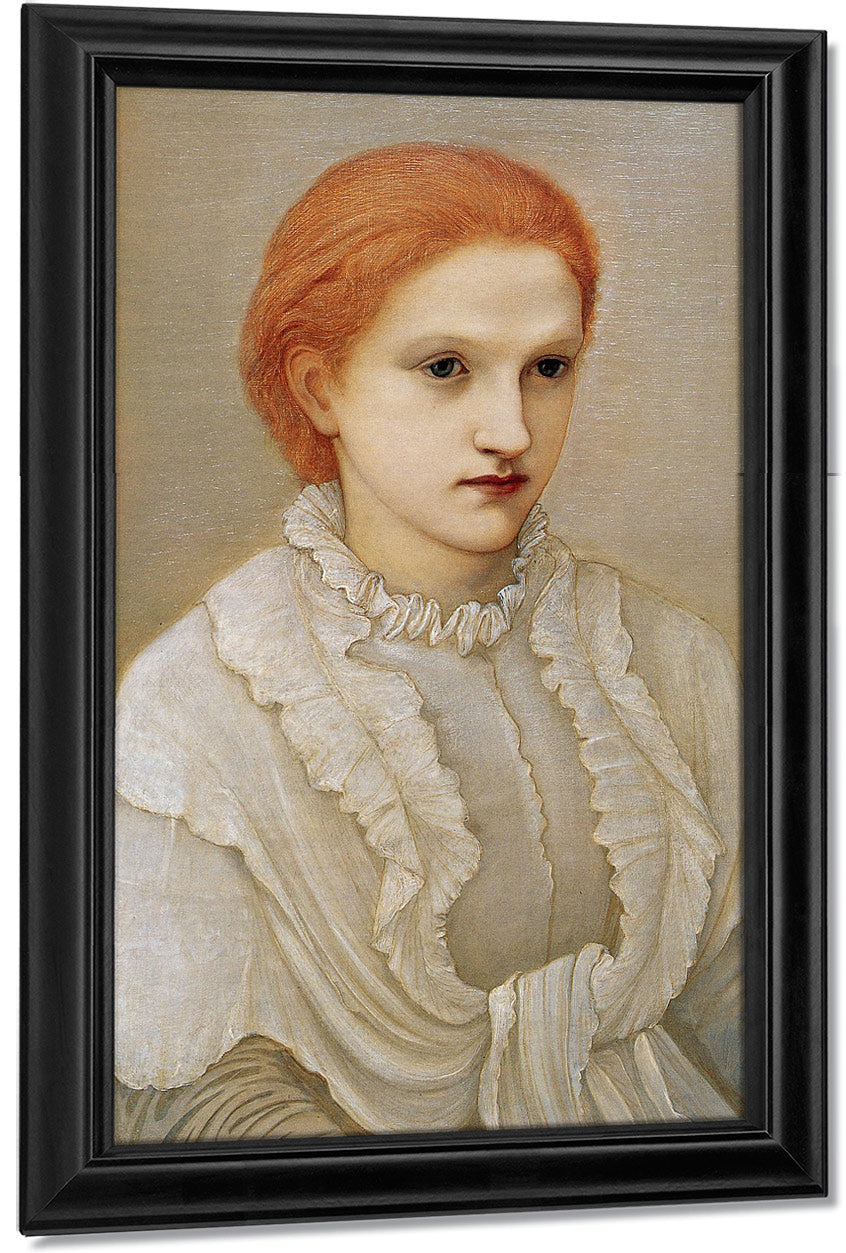 Portrait Of Lady Frances Balfour 1881 By Edward Burne Jones