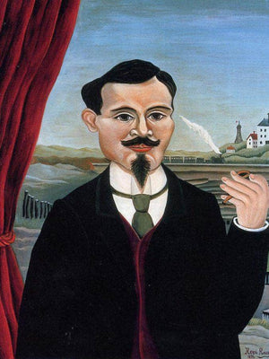 Portrait Of Leon Paul Fargue By Henri Rousseau