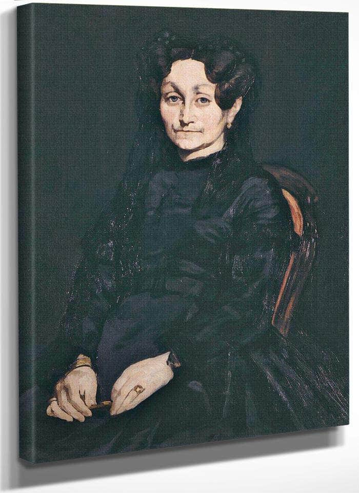Portrait Of Madame Auguste Manet By Manet Edouard