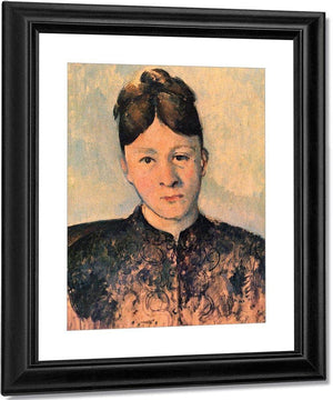 Portrait Of Madame Cezanne 1885 By Paul Cezanne