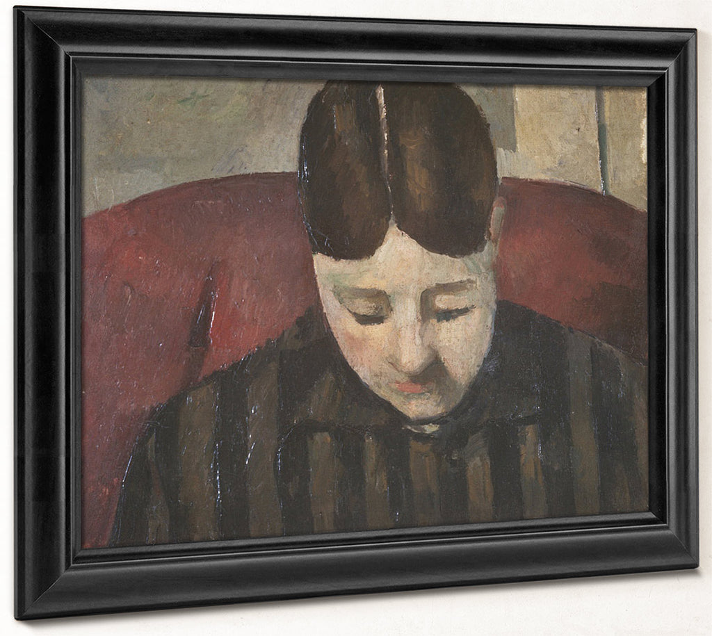 Portrait Of Madame Cezanne 1 By Paul Cezanne