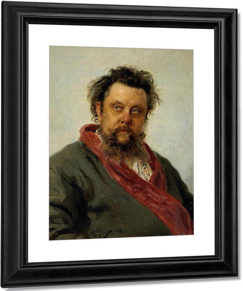Portrait Of Modest Musorgsky 1881 By Ilya Repin