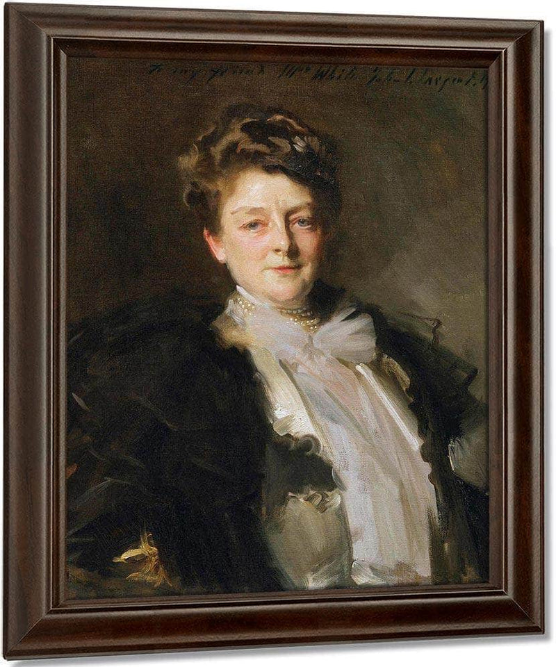 Portrait Of Mrs J. William White By John Singer Sargent