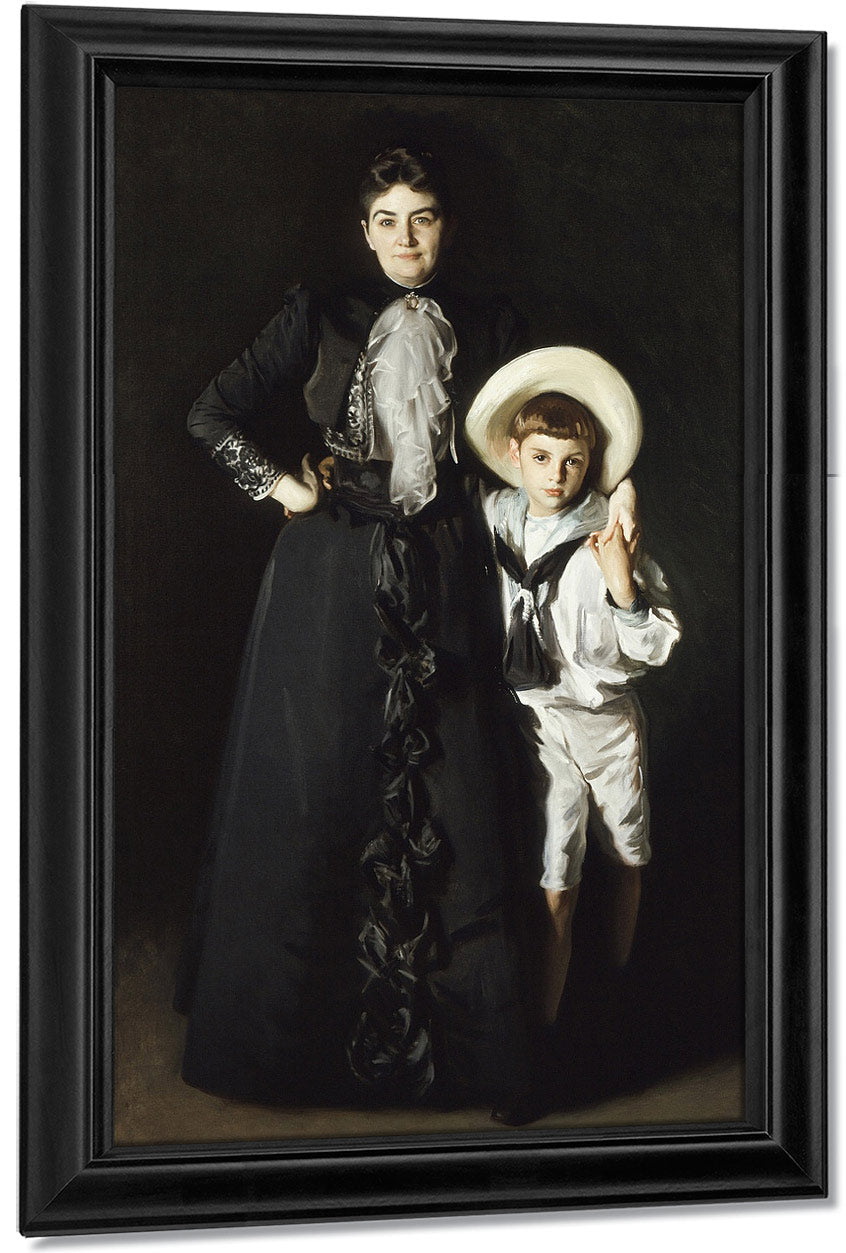 Portrait Of Mrs. Edward L. Davis And Her Son, Livingston Davis By John Singer Sargent