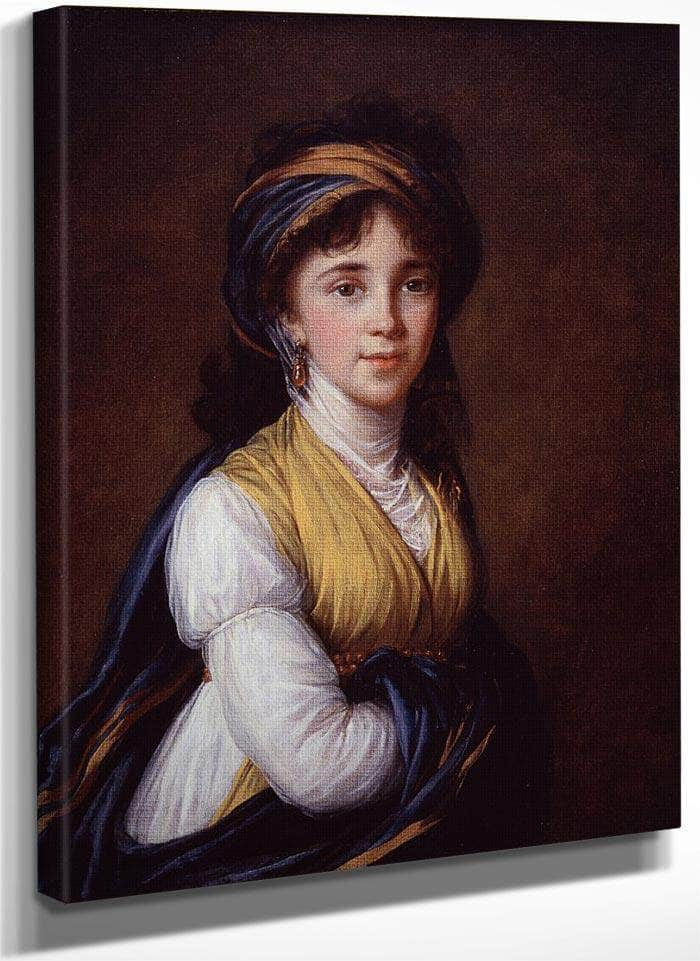 Portrait Of Princess Belozersky By Elisabeth Vigee Le Brun