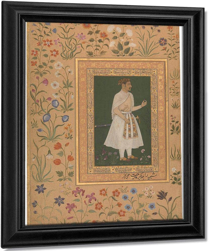 Portrait Of Raja Bikramajit 1620 By Bichitr