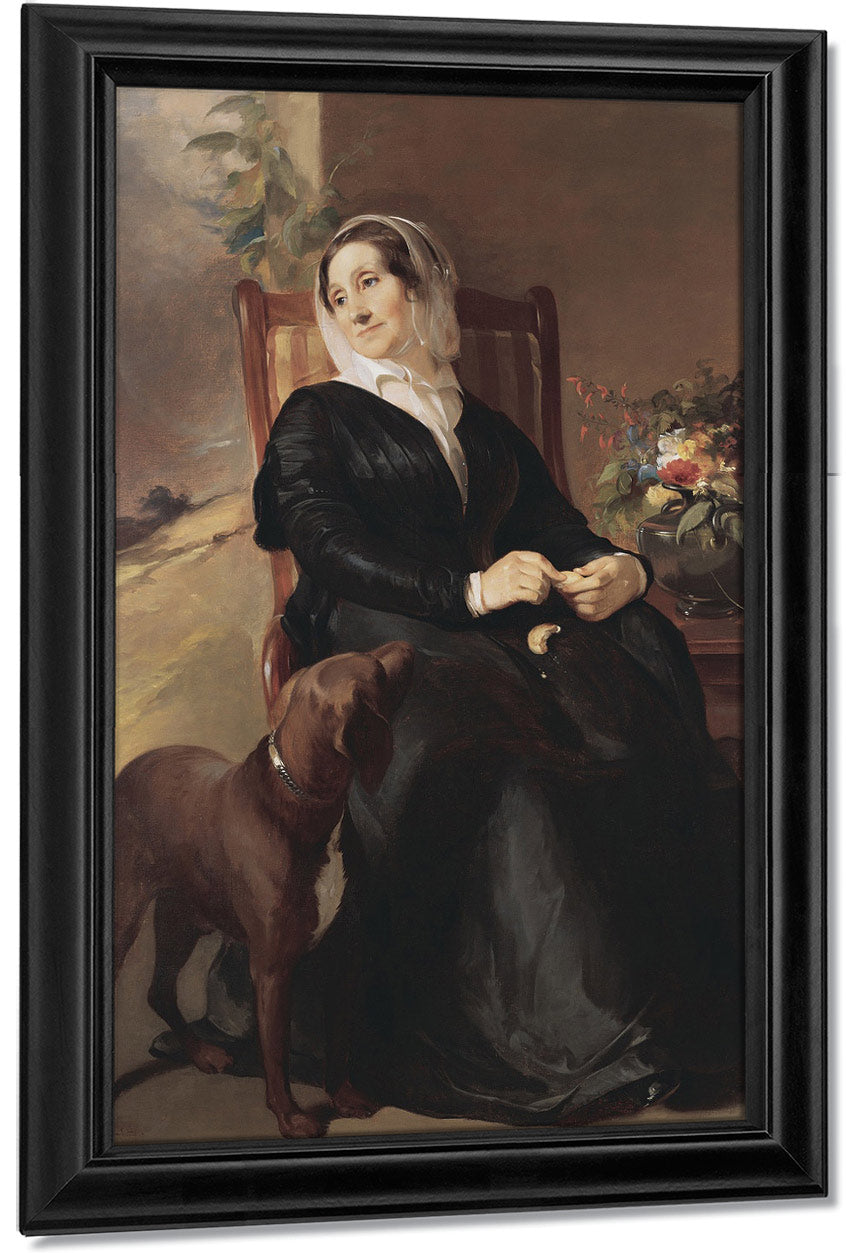 Portrait Of Sarah Sully And Her Dog, Ponto By Thomas Sully