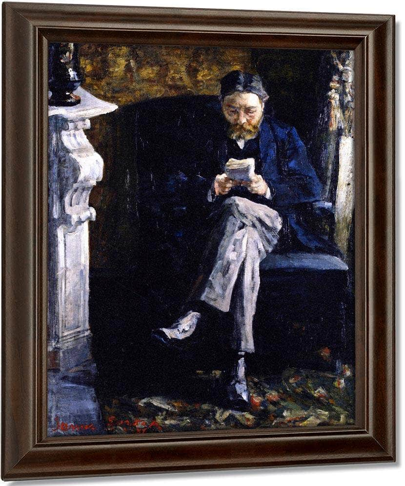Portrait Of The Artist's Father By James Ensor