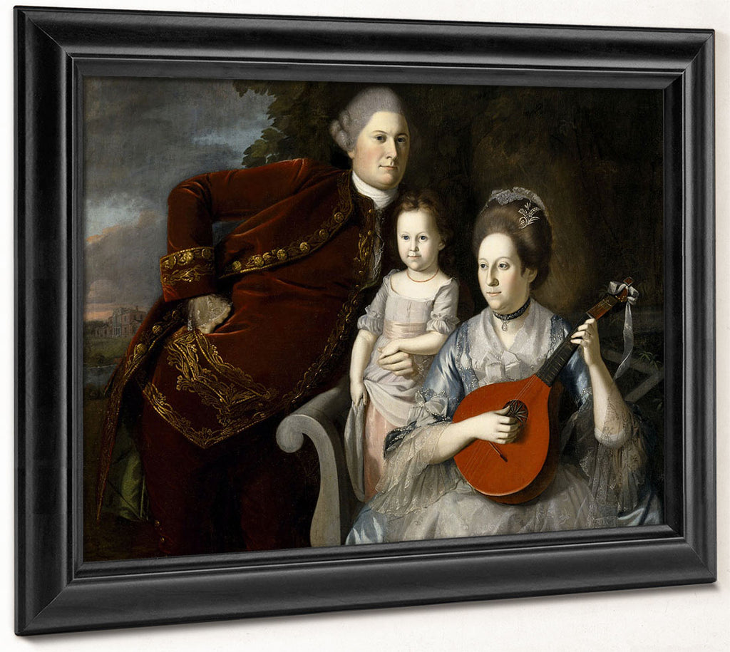 Portrait Of The Edward Lloyd Family By Charles Willson Peale