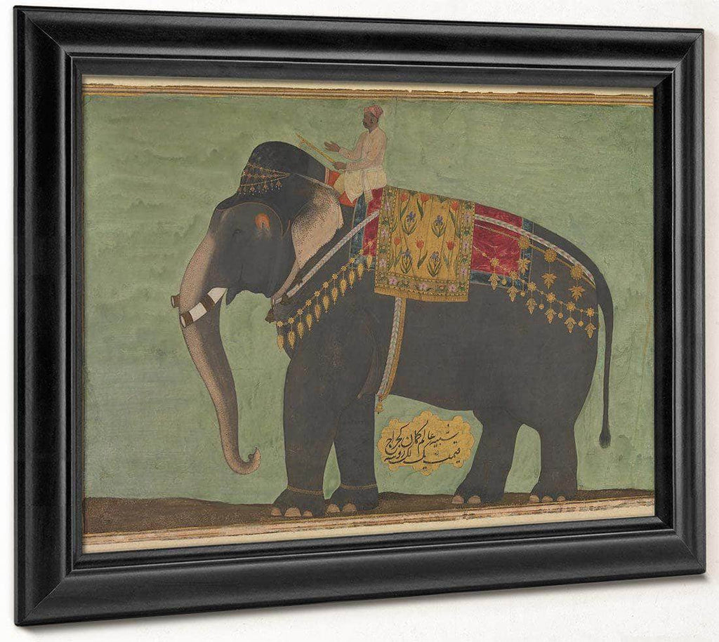 Portrait Of The Elephant 1039 Alam Guman 1640 By Bichitr