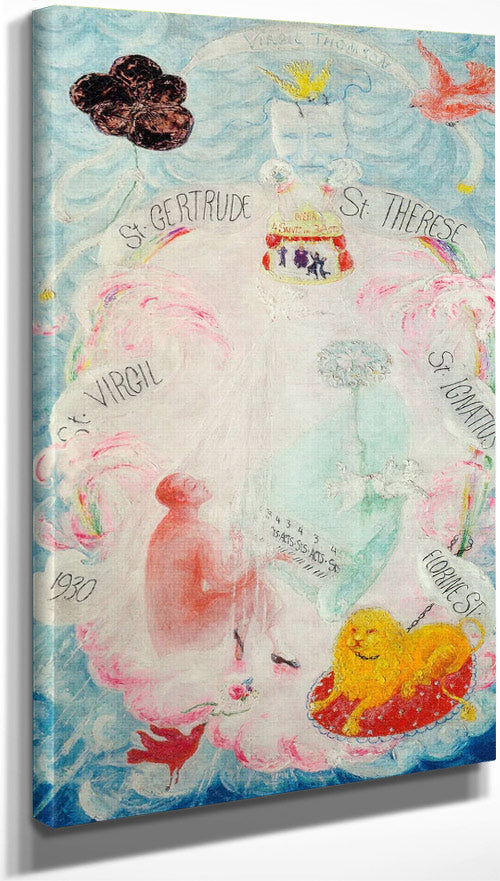 Portrait Of Virgil Thomson By Florine Stettheimer