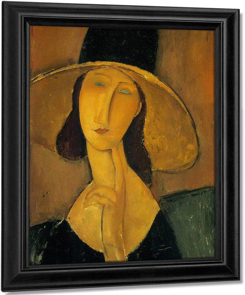 Portrait Of Woman In Hat 1917 By Amedeo Modigliani