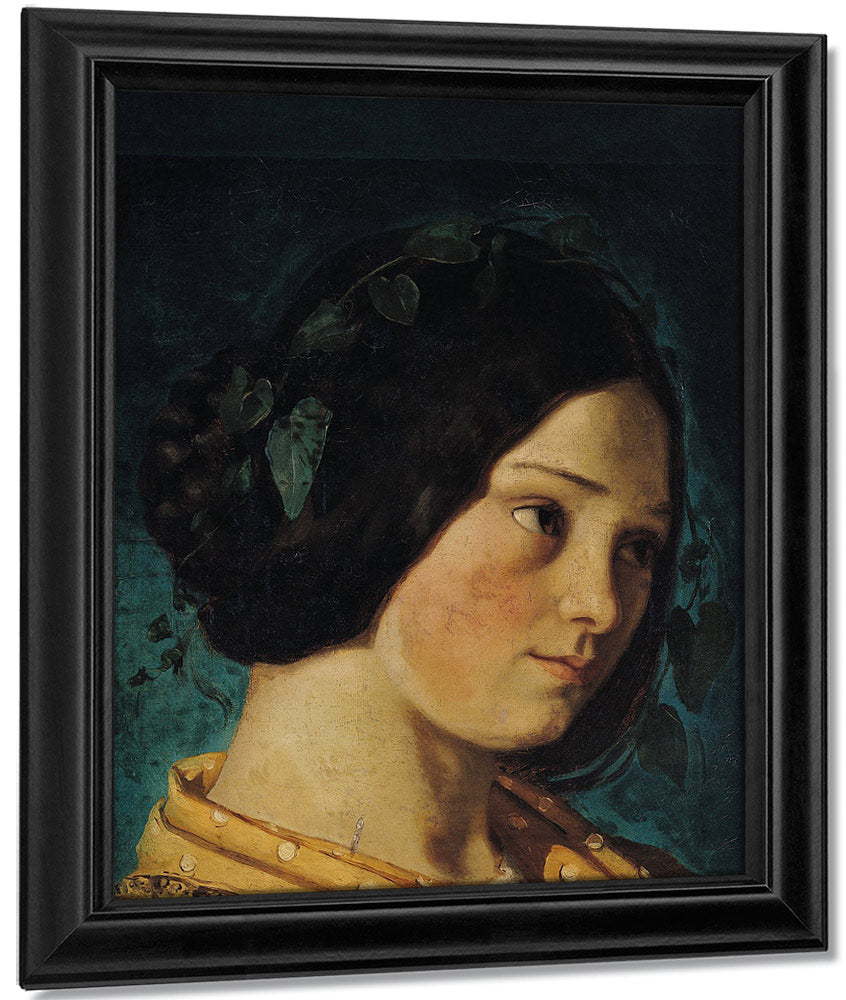 Portrait Of Zelie Courbet By Jean Desire Gustave Courbet