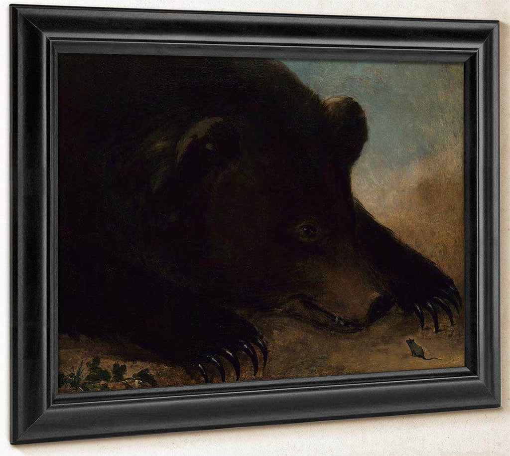 Portraits Of A Grizzly Bear And Mouse, Life Size By George Catlin