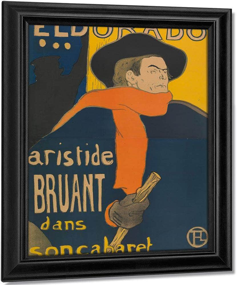 Poster For The Performance Of Artistide Bruant 1892 By Henri De Toulouse Lautrec