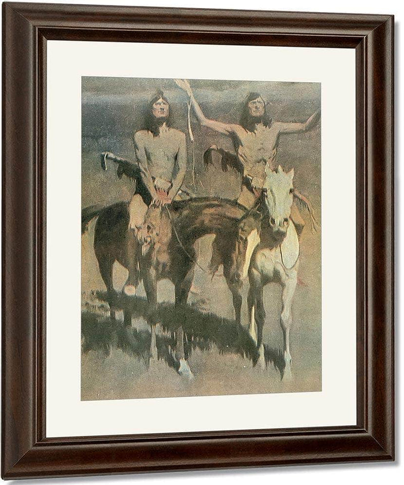 Pretty Mother Of The Night White Otter Is No Longer A Boy By Frederic Remington