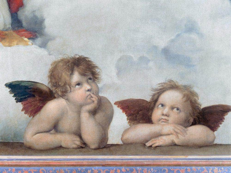 Putti Detail From The Sistine Madonna By Raphael