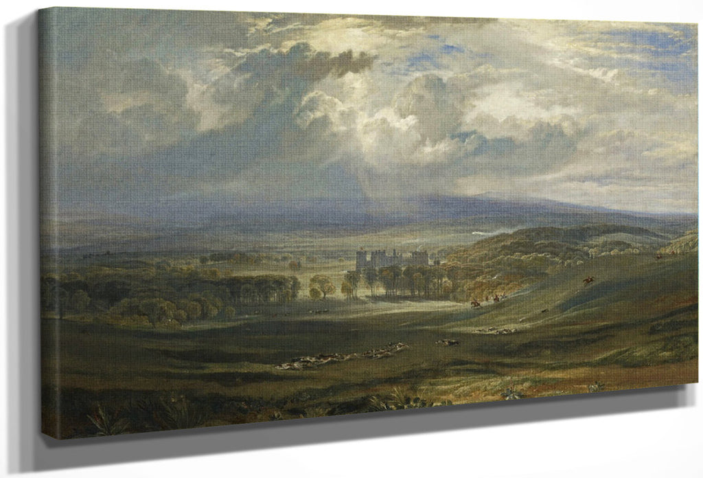 Raby Castle The Seat Of The Earl Of Darlington 1817 By Joseph Mallord William Turner