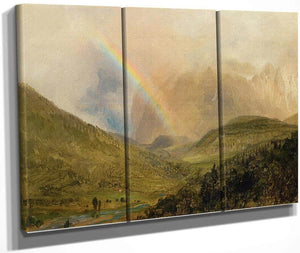 Rainbox Near Berchtesgaden Germany By Frederic Edwin Church