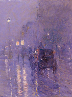 Rainy Midnight By Childe Hassam