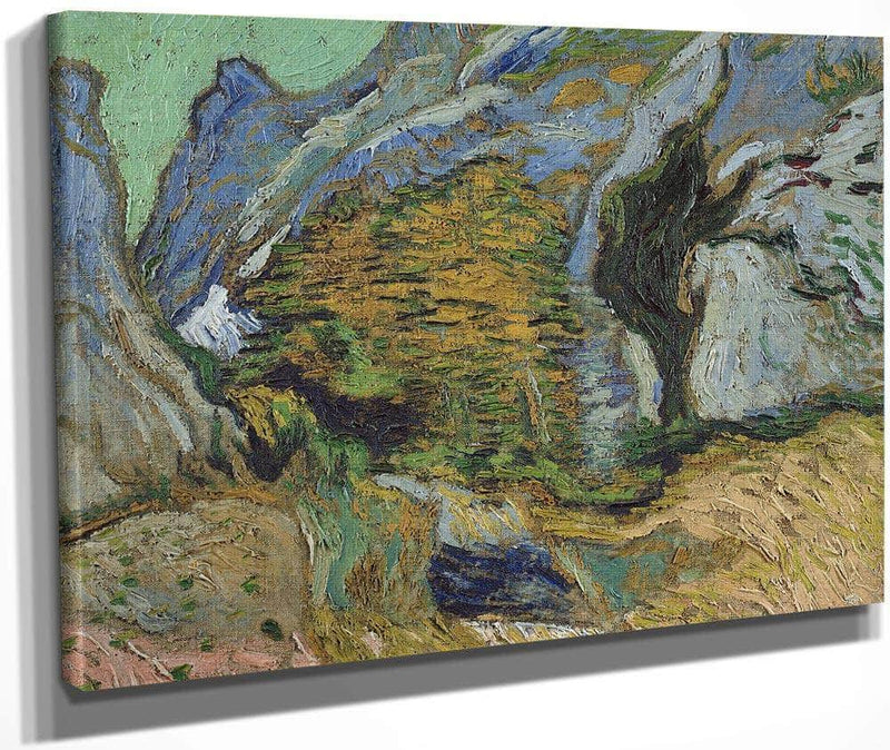 Ravine With A Small Stream By Vincent Van Gogh