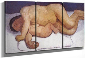 Reclining Mother And Child By Paula Modersohn Becker