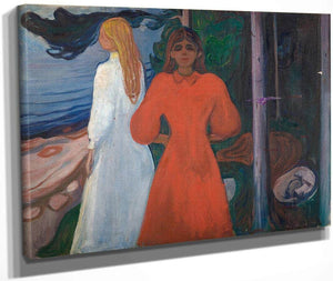 Red And White 1899 1900 93X129 Munch Museum M0460 3000X By Edvard Munch