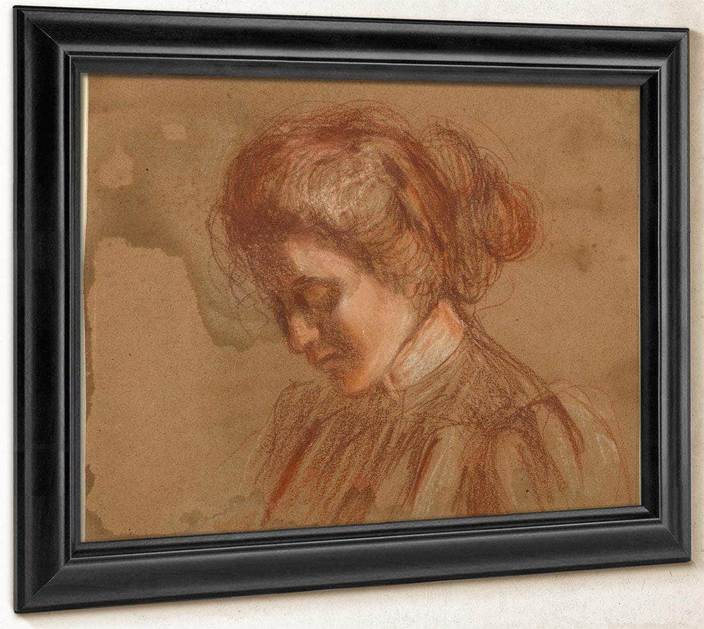 Red Crayon Study By Alice Pike Barney