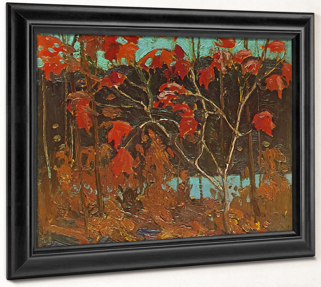 Red Leaves By Tom Thomson