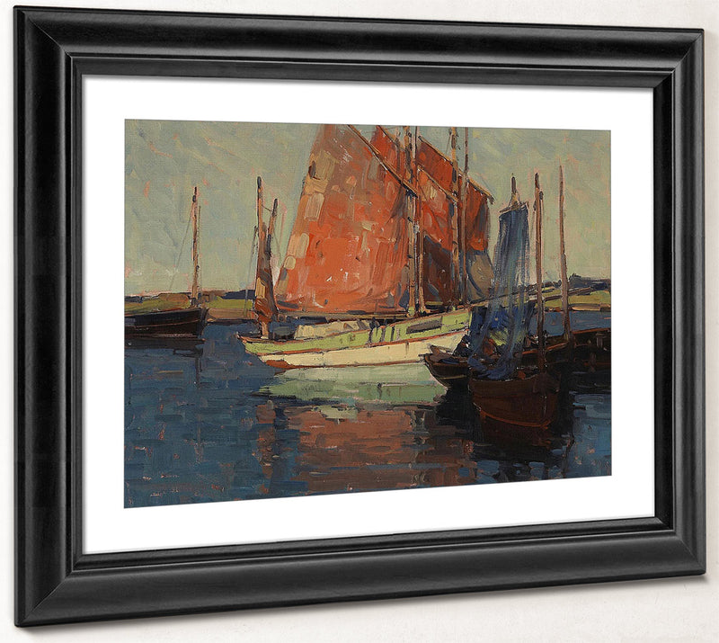 Red Sails, French Tuna Boats By Edgar Payne