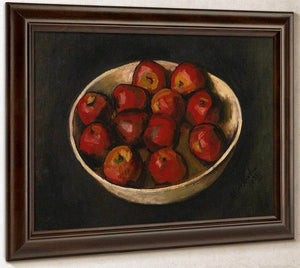 Red By Apples By In By Wood By Bowl By Walt Kuhn